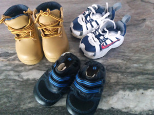 Baby boy , Nikes, boots  - Robeez sold