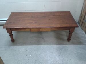 COFFEE TABLE AND 2 END TABLES SOLID ALL WOOD
