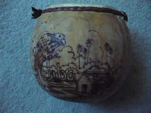 HAND MADE DRUM IN CUBA FROM A GOURD- AVAILABLE