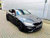 2015 15 Reg BMW M4 3.0 DCT Coupe + METTALIC GREY + RED LEATHER + ***HUGE SPEC**