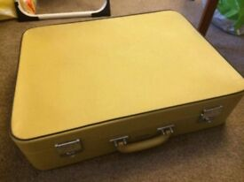 Vintage Pukka Luggage trunk suitcase up cycle project