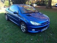PEUGEOT 206 1.6 ( A/C ) CABRIOLET ALLURE * LEATHER * CONVERTIBLE *LOW MILEAGE*