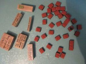 52 UNUSED INK STAMPS - NHL, FOOTBALL, BASKETBALL - FOR CRAFTS!