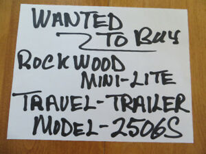 XXX WANTED TO BUY ROCKWOOD MINI LITE TRAILER XXX