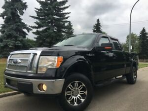 2009 Ford F-150 LARIAT = CREW CAB = BLACK ON BLACK