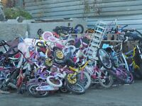 over 200 kids bikes all ages including bmx starting at 20 dollar