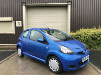 (60) 2010 Toyota AYGO 1.0 VVT-i 2010MY 3dr AYGO Blue Ideal First Car