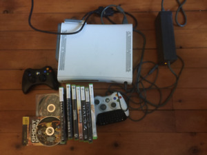 Xbox 360 Console + Controller + WiFi Adapter + 9 Games Bundle!