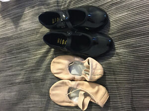 Bloch tap and ballet shoes