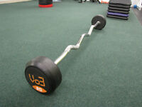 new 60 pounds ez curl barbell