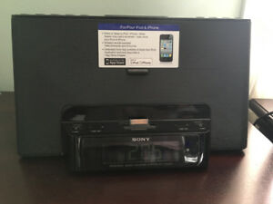 Sony iPhone/iPod  speaker dock clock