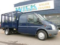 2011 Ford TRANSIT 350L D/CAB 115ps CAGED Tipper *LOW MILES* Manual Tipper