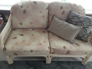 MUST SELL CHEAP****RATTAN COUCHES LIVING ROOM SET8888
