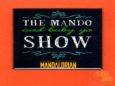 "The Mando and Baby Yo Show 2x3"" fridge/locker magnet chalkboard look Mandalorian"
