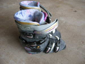 Ski boots worn one time