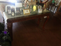 Real Wood Console and Coffee Table
