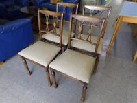 Set of 4 oak dining chairs VGC - Can Deliver For £19