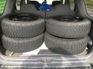 A Set of Four TOYO – Observe G-02 plus Snow Tires on Steel Rims
