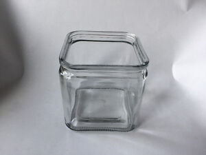 """4.5"""" Cube Glass Vase (s) 5 available"""