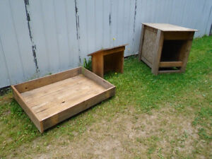 Dog House/Food and Water Shelter/Day Bed