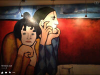 Fresque (toile ) reproduction Picasso