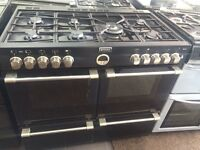 Black stoves 100cm seven burners gas cooker grill & double oven with guarantee