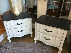 Pair of Malcolm French Provincial Style Night Stands/Side Tables