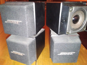 Pair of BOSE Acoustimass AM-5 System Black Double Cube Speakers