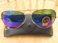 Brand new RAYBAN AVIATOR sunglasses | summer fashion | sale| gold frame