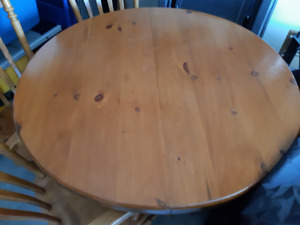 Solid Pine Table  and 4 Chairs Looking for New Home