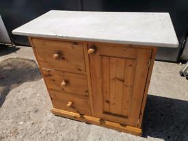 Pine Wash Stand / Cupboard / Kitchen