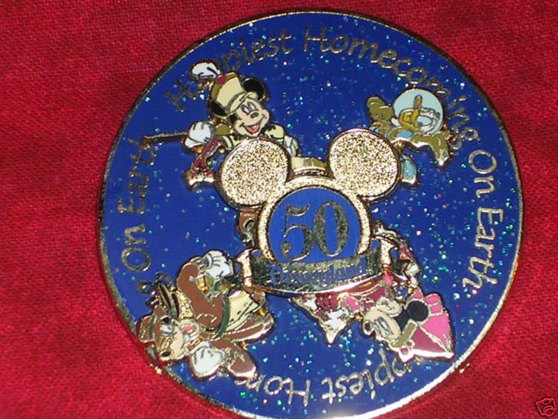 Mickey Minnie Goofy Donald Spinner Disneyland 50 Anniversary Disney Pin