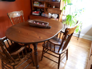 Dining table with large pub chairs