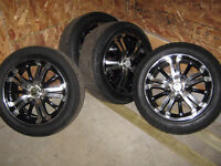custom rims and tires 4 hole universal