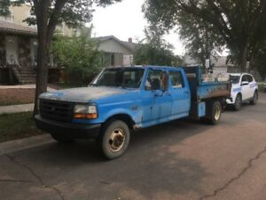 1992 f 350 crew cab with a dump box. runs drives. 159000km