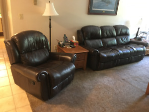 Leather sofa and chair. must go, best offer