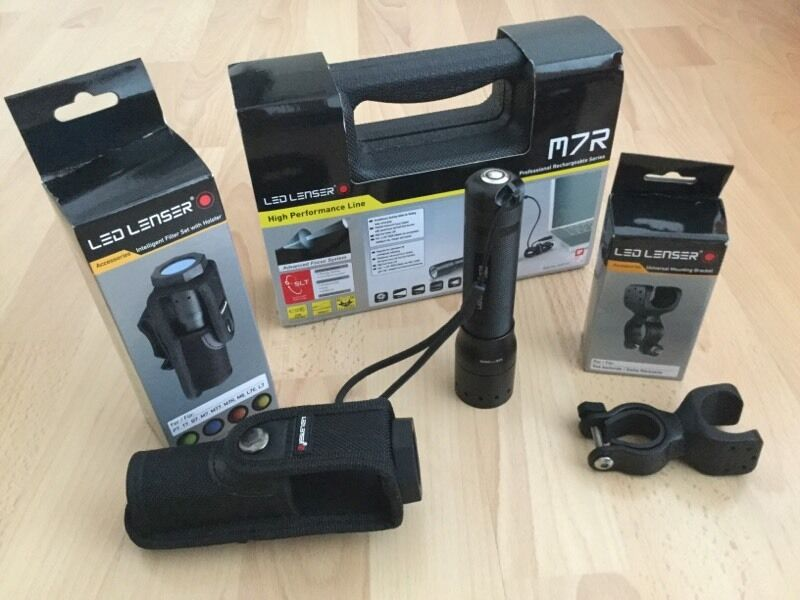 Led Lenser M7R C/W filter set/universal holder
