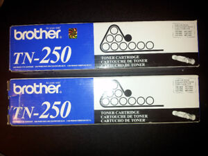 2 Toners Brother TN-250-original-new in the boxes.