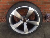GENUINE AUDI ROTOR ALLOY WHEEL AND TYRE - IMMACULATE CONDITION