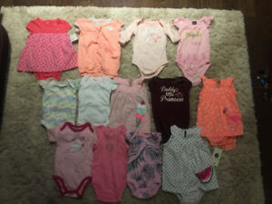 Baby girl 0-3 and 3-6 months onesies