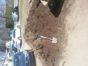 Terre topsoil en vrac