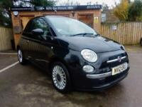 2012 FIAT 500 1.2 ( 69bhp ) LOUNGE IN BLACK (STUNNING CONDITION)