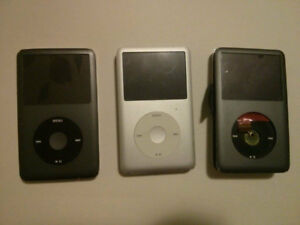 3 Broken 160GB 7th Generation Apple iPod Classics