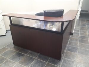 Office Furniture - Reception and pedestal desk, chairs, etc..