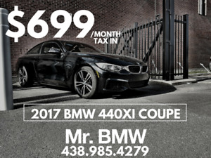 2017 BMW 440i Coupe - $699 TX IN / 36 Months / $0 Cash Down