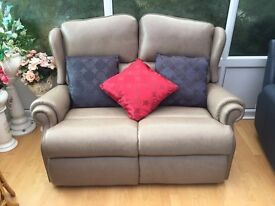 Sherborne, Claremont, 3 & 2 Seater, Leather, Electric Reclining Sofa, Nearly New