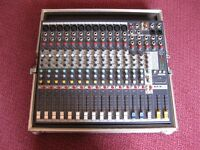 MIXER WITH QUALITY FLIGHT CASE, BAND, DUO, SOLO, PA MIXER
