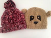 2x ladies beanie hats