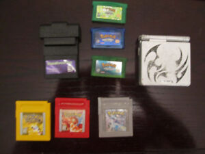 GBA SP 001 Tribal + Pokemon games + Accessories