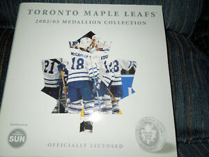 TORONTO MAPLE LEAFS MEDALLION SET Kitchener / Waterloo Kitchener Area image 1